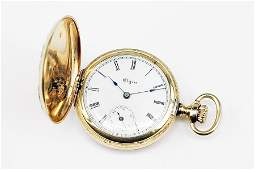A LAdys Elgin 14 Karat Gold Pocket Watch