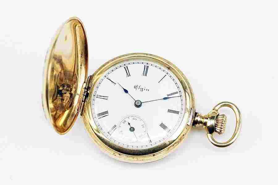 A LAdy's Elgin 14 Karat Gold Pocket Watch.