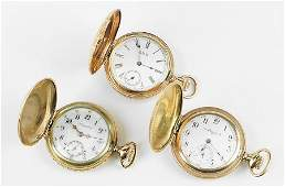 Three Ladys Gold Filled Pocket Watches