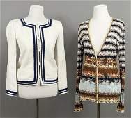 A Missoni Wool Blend Knit Cardigan.