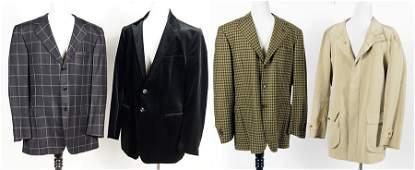 A Luciano Barbera Men's Mustard Cashmere Jacket.