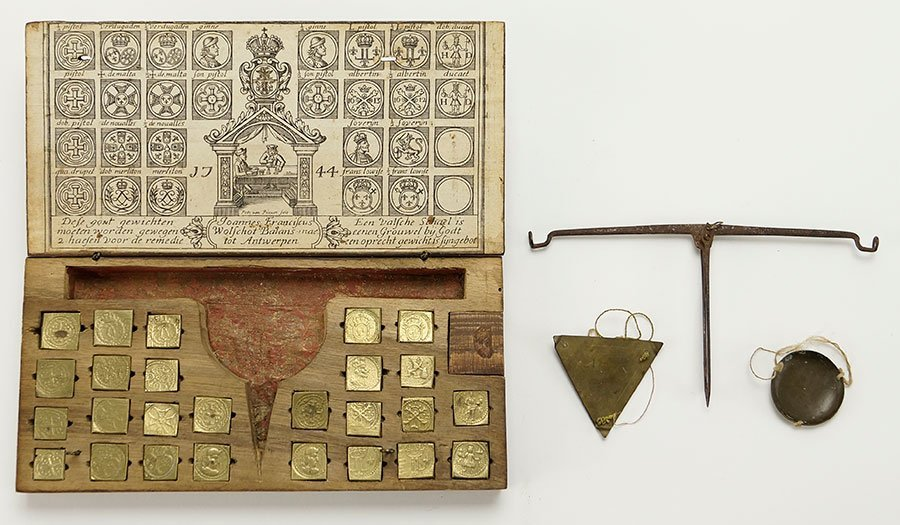 An 18th Century Joannes Franciscus Wolschot Scale Set.