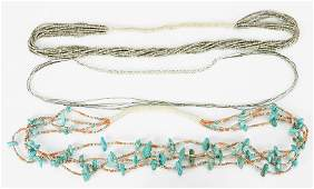 A Native American Heishi Necklace.