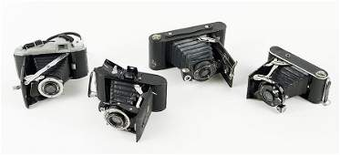 A Collection Of Early 20th Century Folding Cameras
