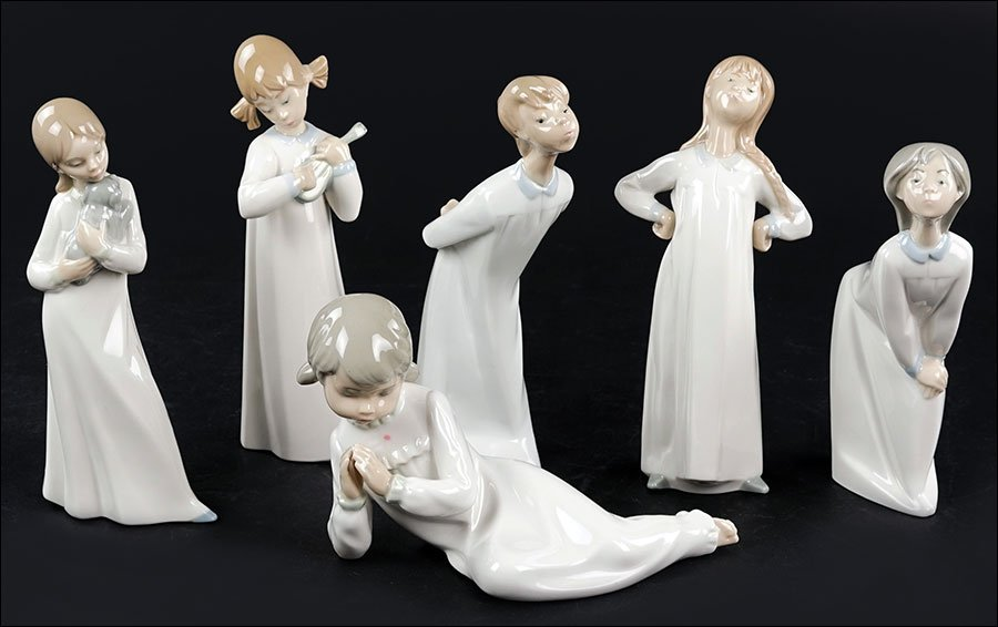 A Group of Lladro Porcelain Figures.
