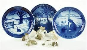 Five Lladro Porcelain Animal Figures
