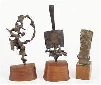 A Group of Three Bronze Sculptures