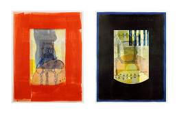 Artist Unknown (20th Century) Two Abstracts.