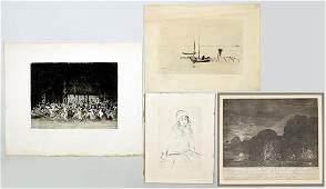Ernst Oppler (German, 1867-1929) Three Etchings.