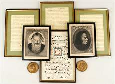 A Collection Of Six Framed Items