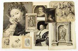 A Collection of 17th  19th Century Old Master Prints