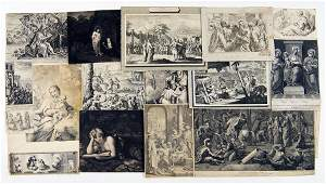 A Large Collection of Old Master Prints Depicting Old