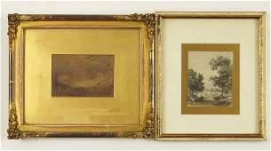 British School (19th Century) Two Works.