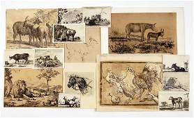 A Collection of 16th-20th Century Animal Prints and