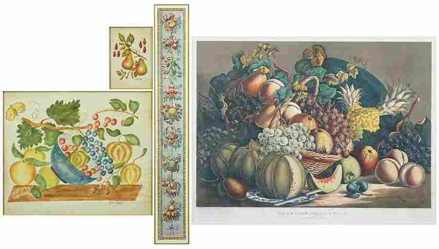 A 19th Century Currier & Ives Color Lithograph.