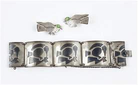 A Graziella Laffi Silver And Copper Bracelet