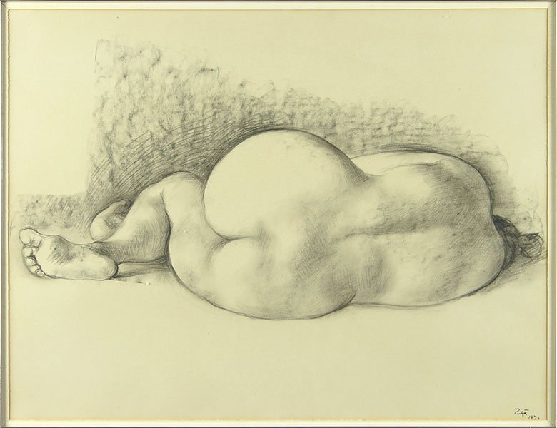 Francisco Zuniga (Mexican, 1912-1998) Reclining Female