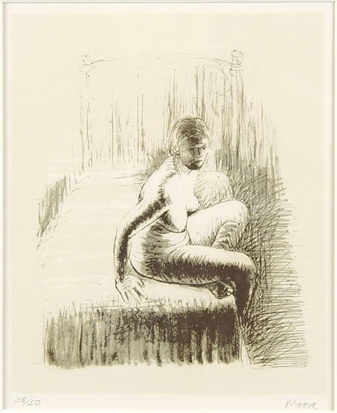 Henry Moore (British, 1898-1986) Seated Girl On Bed