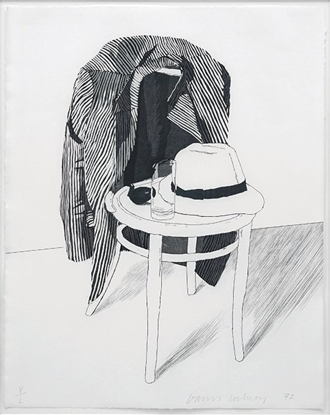 David Hockney (British, B. 1937) Panama Hat.