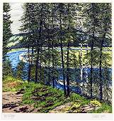 Neil Welliver (American, 1929-2005) Synthetic Blue-St.