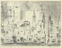 John Henry Page Jr. (American, B. 1923) New York at