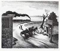 Thomas Hart Benton (American, 1889-1975) Edge of Town.