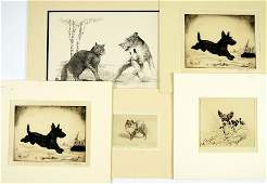A Collection of Five 20th Century Prints of Dogs.
