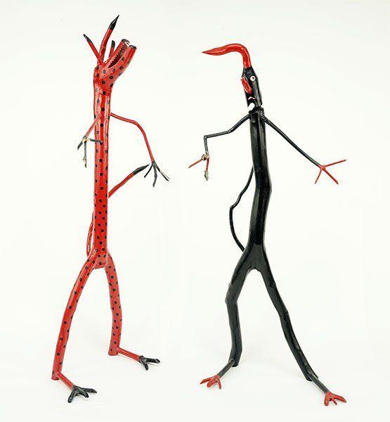 Calvin Cooper (American, 20th Century) Two Folk Art