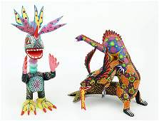 Two Mexican Folk Art Figures.