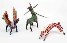 Three Mexican Folk Art Figures.