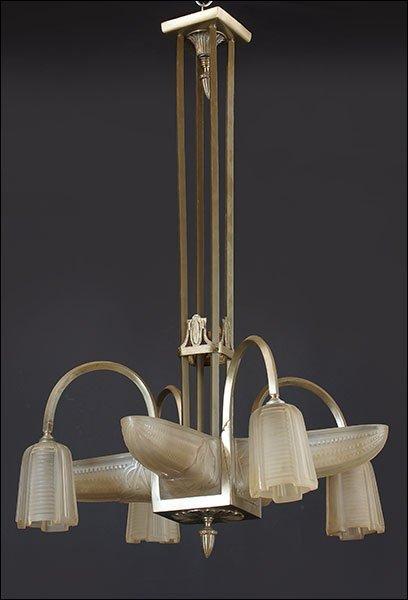 An Eight-Light Hanging Fixture.