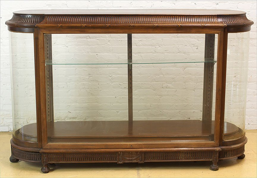 A Mahogany Display Cabinet.