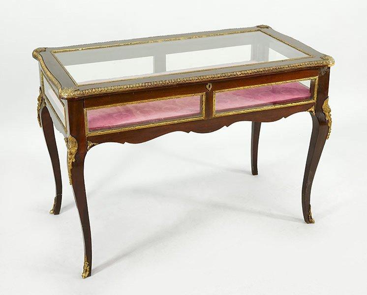 A Louis XV Style Mahogany Vitrine Table.