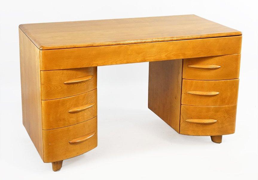 A Heywood Wakefield Kneehole Desk.
