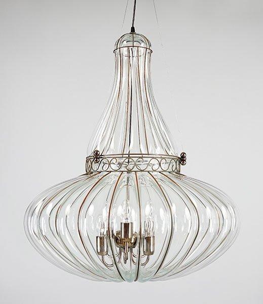 A Murano Caged Glass Pendant Light.