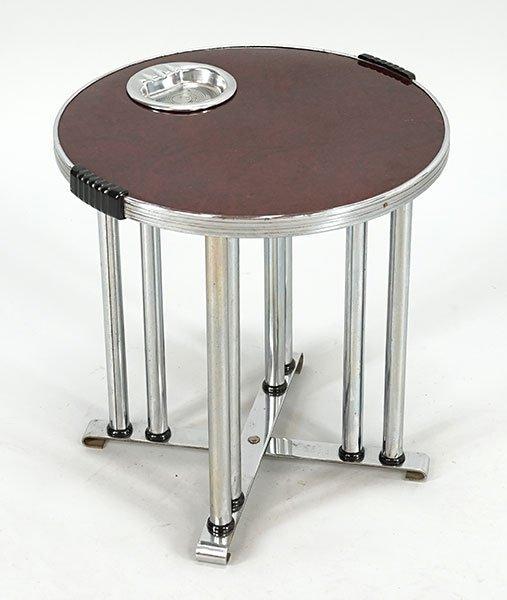 An Art Deco Chrome Smoking Table.