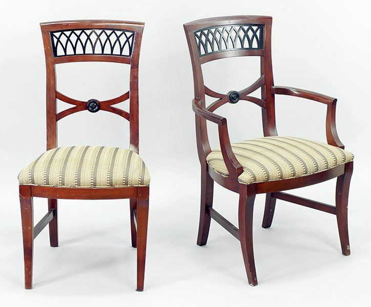 A Set of Ten Dining Chairs.