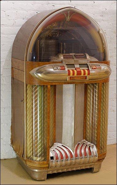 A Wurlitzer Multi-Coin Phonograph Jukebox.