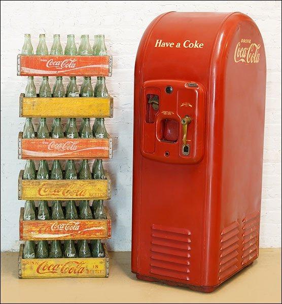 An F.L. Jacobs Coca-Cola Machine.
