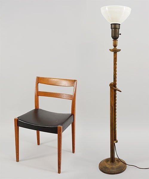 A Swedish Troeds Bjarnum Teak Side Chair.