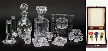 A Pair of Tiffany  Company Crystal Candlesticks
