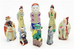 A Collection Of Asian Porcelain Figures.