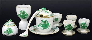A Group Of Four Herend Hungary Porcelain Egg Cups.