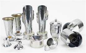 A Collection of Chrome Decorative Items