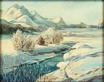 Artist Unknown (20th Century) Winter Landscape.