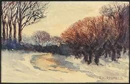 Edward Willis Redfield (American, 1869-1965) Winter