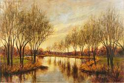 L Carson American 20th Century Autumn Reflections