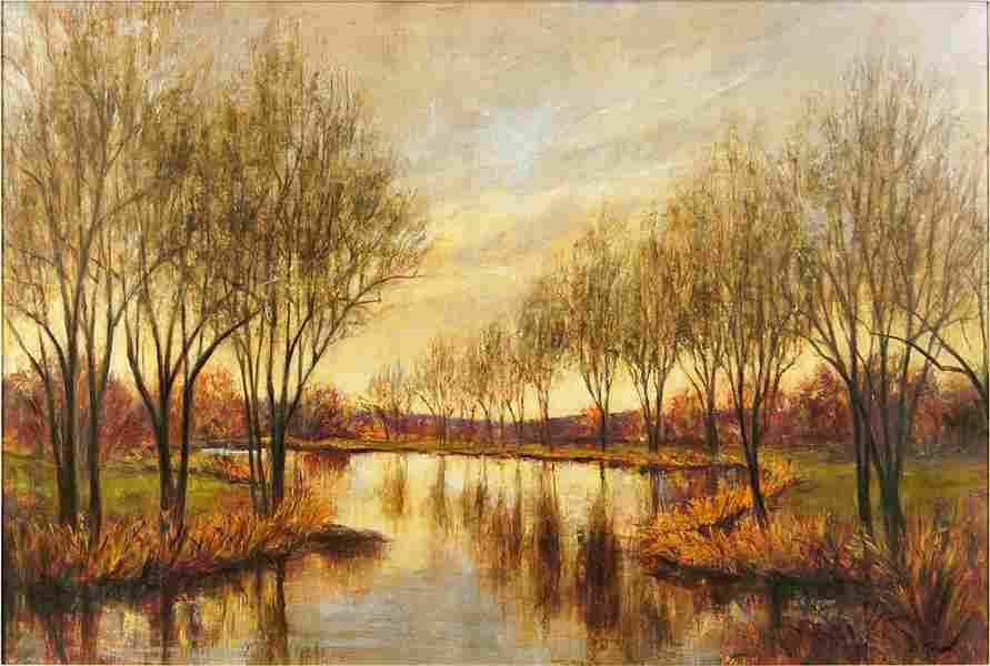 L. Carson (American, 20th Century) Autumn Reflections.
