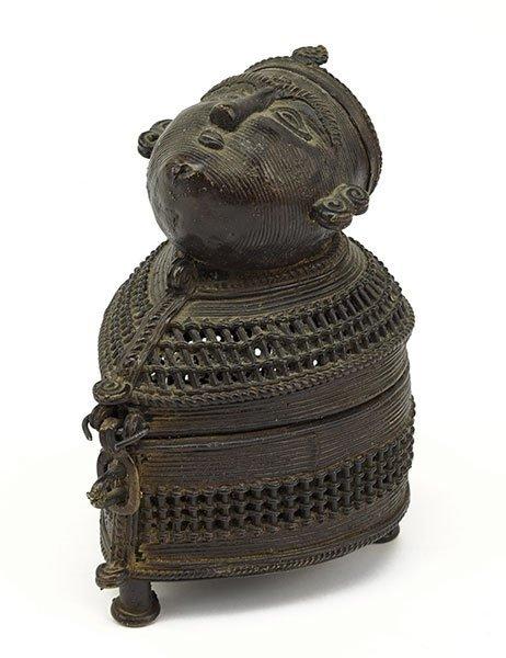 A Southeast Asian Bronze Incense Burner.
