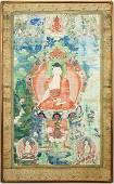 A Tibetan Painting on Silk.